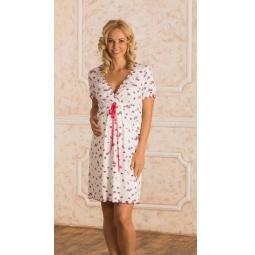 Купить Сорочка для беременных Nuova Vita 701.1. Цвет: малиновый