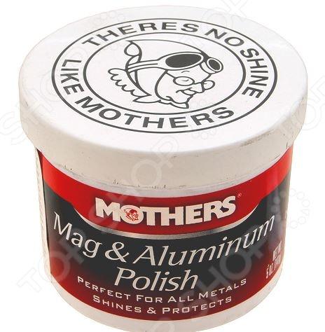 Полироль для алюминиевых и магниевых деталей Mothers MS05100 Mag&Aluminum Polish полироль пластика хорс ваниль с силиконом 400мл