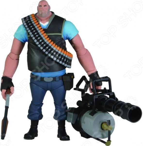 Игрушка-фигурка Neca ГромилаФигурки супергероев и других персонажей<br>Игрушка-фигурка Neca Громила это замечательный подарок как взрослому, так и ребенку! Модель предназначена для любителей всемирно-известной видеоигры Team Fortress 2 Тим Фортресс 2 , т.к. представляет собой точную копию персонажа Heavy. Игрушка выполнена из пластика и ее размер составляет 18 см. Все части тела фигурки являются подвижными, что максимально увеличивает сходство с прототипом. В комплект также входит боевое оружие.<br>
