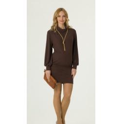 Купить Туника-платье для беременных Nuova Vita 1512.01. Цвет: шоколадный