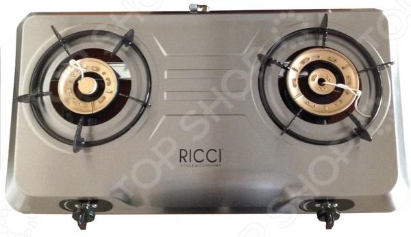 Плита настольная газовая Ricci RGH-702C настольная плита clatronic dkp 3583 weib