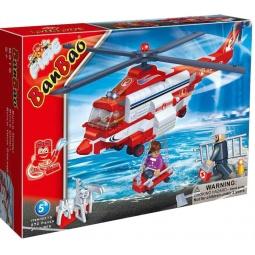 фото Конструктор Banbao Пожарный вертолет, 272 детали