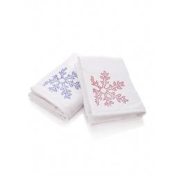 фото Комплект полотенец подарочный TAC Snow двухцветный
