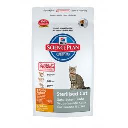 фото Корм сухой для стерилизованных кошек Hill's Science Plan Sterilised Young Adult. Вес упаковки: 8 кг