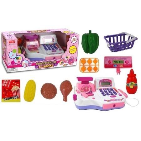 Купить Игровой набор для девочки Shantou Gepai «Кассовый аппарат с чеком и набором продуктов»