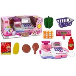 фото Игровой набор для девочки Shantou Gepai «Кассовый аппарат с чеком и набором продуктов»