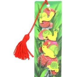 фото 3D-закладка для книг Липуня «Улитки»