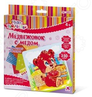 Мозаика по номерам Оригами «Медвежонок с медом»