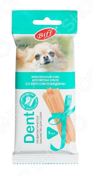 Лакомство для собак мелких пород TiTBiT 0923 DENT «Жевательный снек со вкусом говядины»