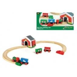Купить Железная дорога Brio «Мой первый паровозик с мягким туннелем» 33703