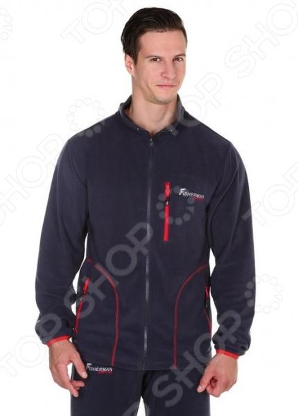 Куртка флисовая NOVA TOUR «Саммер v.2»Мужская одежда для спорта<br>Куртка флисовая NOVA TOUR Саммер v.2 теплая куртка для путешествий, рыбалки или охоты. Во время туристических походов очень важно чувствовать себя комфортно, для этого необходимо продумывать всю одежду, ведь путешествие может длиться не день и не два, именно поэтому вам надо быть готовым ко всему. Представленная куртка отличается следующими особенностями, которые смогут подарить вам комфорт:  можно использовать в качестве согревающего слоя в непогоду;  удобные карманы на молниях. Куртка сделана из мягкого материала Polar Fleece с плотностью 150 г кв.м. Это теплый и прочный материал, который может считаться полноценной заменой шерсти. Молекулярная структура полиэфирного волокна позволяет удерживать воздух и поглощать влагу, после чего испарять её в окружающую среду. Таким образом вы не почувствуете дискомфорт после того как вспотели, а на улице прохлада. Материал практически не намокает и быстро сохнет. теплый, легкий, прочный материал, пришедший на смену шерсти.<br>