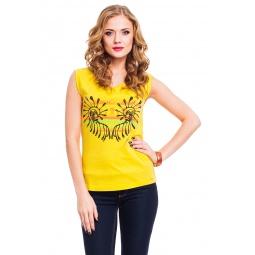 фото Футболка Mondigo 8731. Цвет: желтый. Размер одежды: 42