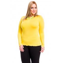 фото Кофта Mondigo XL 1470. Цвет: желтый. Размер одежды: 48