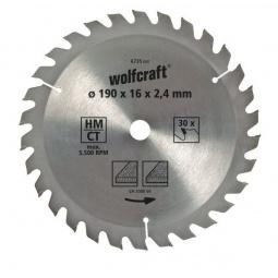 фото Диск пильный Wolfcraft HM. Диаметр диска: 160 мм. Количество зубьев: 20