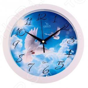 цена на Часы настенные Вега П 1-7/7-188 «Голуби в небе»