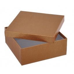 фото Коробка подарочная Феникс-Презент «Золотой». Размер: S (9х9,5 см). Высота: 6 см