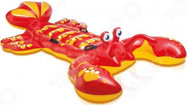 Плот надувной детский Intex «Лобстер»Детский надувной транспорт<br>Плот надувной детский Intex Лобстер то, что нужно жарким летом для игр и веселья. Плотик сделает игры на воде еще более разнообразными и увлекательными. Особенно он будет полезен для детей, которые еще не научились плавать. Стильный дизайн и яркая расцветка понравится как мальчикам, так и девочкам. Плот изготовлен из прочного винилового материала, устойчивого к различным механическим воздействиям, УФ-лучам и пр. Его также можно использовать в качестве удобного местечка для загорания. Четыре рукоятки, расположенные на корпусе плота, помогут удержать равновесие и обеспечат безопасность. Диаметр 137 см, максимальный вес 44 кг.<br>