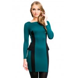фото Платье Mondigo 5052. Цвет: болотный. Размер одежды: 48
