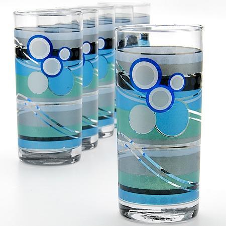 Купить Набор стаканов «Яркое настроение». Цвет: серо-голубой