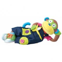 Купить Мягкая игрушка развивающая ALEX «Учимся одеваться с обезьянкой»