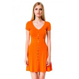 фото Платье Mondigo 7055. Цвет: оранжевый. Размер одежды: 46