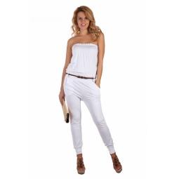фото Комбинезон Mondigo 8653. Цвет: белый. Размер одежды: 46