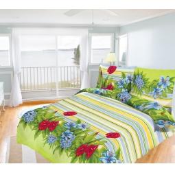 фото Комплект постельного белья Олеся «Царство цветов». Евро
