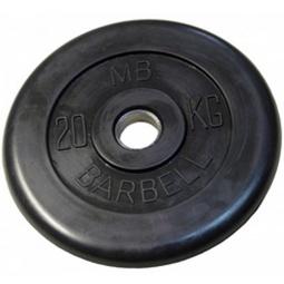 фото Диск MB Barbell для штанги. Диаметр отверстия диска: 50 мм. Вес в кг: 20 кг