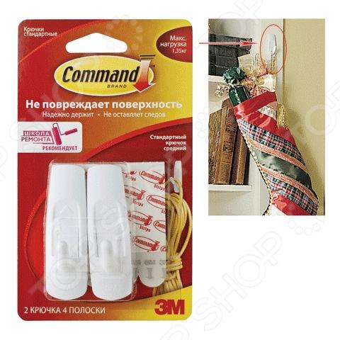 Набор крючков самоклеящихся Command 17002, 2 шт.
