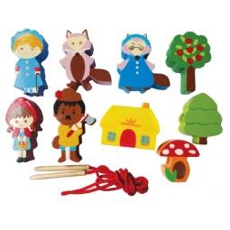 фото Игра развивающая для малыша Mapacha «Шнуровка - бусы. Красная шапочка»