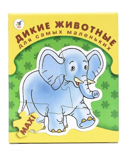 Пазл для малышей Дрофа «Дикие животные» trefl классические пазлы для малышей дикие животные 1 от 2 лет