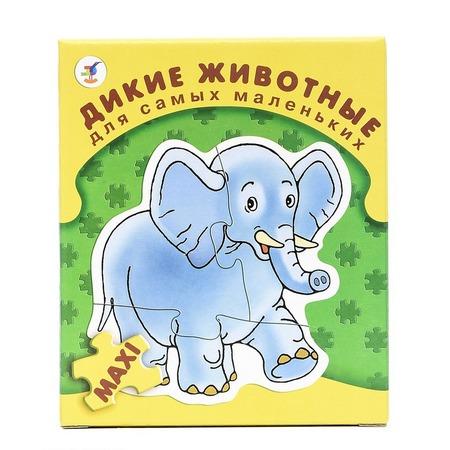 Купить Пазл для малышей Дрофа «Дикие животные»