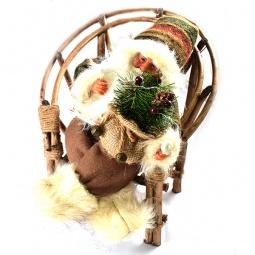 Купить Игрушка новогодняя Maxitoys «Дед мороз» в плетеном кресле