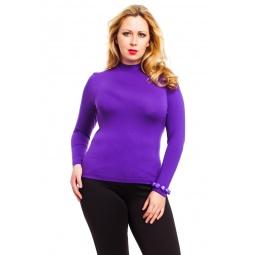 фото Водолазка Mondigo XL 036. Цвет: фиолетовый. Размер одежды: 48