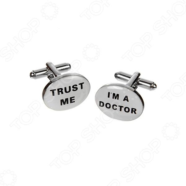 Запонки Mitya Veselkov «Верь мне. Я доктор»