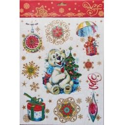 фото Пленка декоративная для окна Феникс-Презент 34336 «Белый мишка и игрушки»