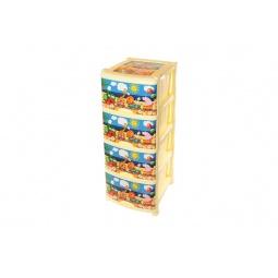 Купить Комод детский 4-х секционный Violet 0352 «Паровозик»