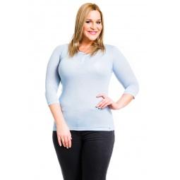 фото Кофта Mondigo XL 8518. Цвет: голубой. Размер одежды: 52