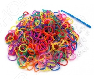 Набор резиночек для плетения Colorful Bands Сундук NR010 это уникальный набор для детского творчества. С помощью резиночек ребенок сможет самостоятельно создать множество украшений: браслетов, подвесок, колечек. Вещь, сделанная своими руками, будет отличным подарком друзьям и семье. В набор входят 420 резиночек и крючок.