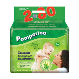 фото Влажные салфетки для детей Pamperino Duo