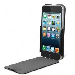 фото Чехол и пленка на экран Muvit Folio Slim Case для iPhone 5. Цвет: черный