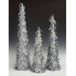 фото Набор новогодних украшений Holiday Classics «Елки-конусы». Цвет: серебристый