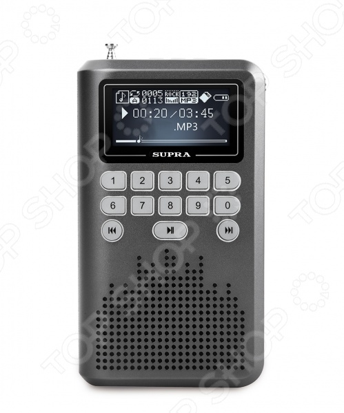 Радиоприемник портативный Supra PAS-3907