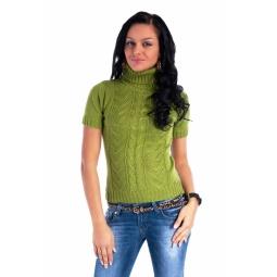 фото Свитер вязаный Mondigo 9004. Цвет: темно-зеленый. Размер одежды: 44