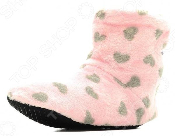 Тапочки домашние высокие Burlesco H26. Цвет: розовый, серый