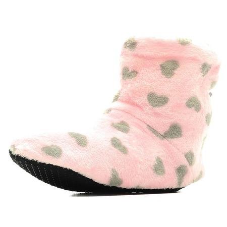 Купить Тапочки домашние высокие Burlesco H26. Цвет: розовый, серый