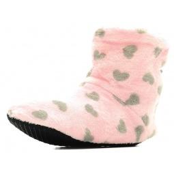 фото Тапочки домашние высокие Burlesco H26. Цвет: розовый, серый. Размер одежды: 38-39