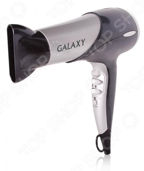 Фен Galaxy GL 4306Фены<br>Фен Galaxy GL 4306 обеспечивает мощный воздушный поток и быструю сушку волос. Мощность модели составляет 2000 Вт. Прибор оснащен 2 скоростями потока воздуха, 3 температурными режимами, а также функцией подачи холодного воздуха для закрепления прически. Также имеется функция Turbo . Эргономичная ручка удобно лежит в ладони, кнопки управления находятся под рукой. Оснащена петлей для подвеса. В комплекте поставляются насадка-концентратор и насадка-диффузор. Фен Galaxy GL 4306 это отличное решение для тех, кто ценит максимальный комфорт и свое время.<br>