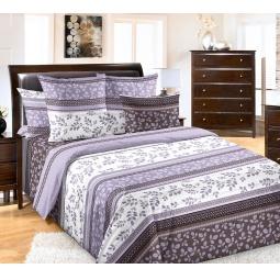 фото Комплект постельного белья Королевское Искушение «Водевиль». 1,5-спальный. Цвет: серый