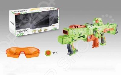 Оружие игрушечное Yako Y4416204Другое игрушечное оружие<br>Оружие игрушечное Yako Y4416204 оригинальный космический бластер, который специально создан для активных детей, обожающих подвижные игры. Оружие выполнено из высококачественной пластмассы, которая не утяжеляет его. Оно удобно ложится в руку, и его можно использовать даже из положения лежа. Оружие стреляет специальными пластиковыми дисками диаметром 4 см. Снаряды дополнены мягкими EVA кольцами, которые исключает возможность случайных травм. Всего в наборе комплекте 10 дисков. Все снаряды заряжаются в магазин. Взвод осуществляется отведением рычага. Приклад съемный. Дальность стрельбы составляет 18 метров. Помимо самого оружия в комплекте вы найдете защитные очки и прицел с подсветкой и ИК лучом.<br>